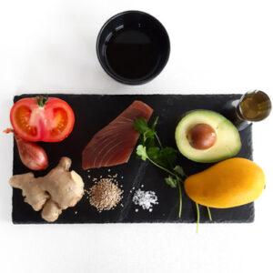 Tuna sashimi Mead Jere