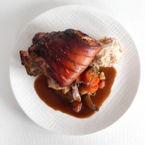 Crispy Pork Knuckle with Mead Jere